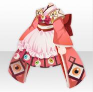 (Tops) Mononoke Domeki Kimono Style ver.A red