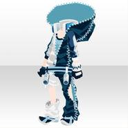 (Tops) Punk Zipper Hoodie Style ver.A blue