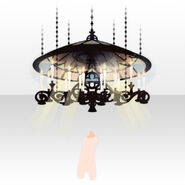 (Body Accessories) Prayer Stained Glass Lamp ver.A black