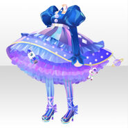 (Tops) CocoPPa Dolls Colorful Rocket Dress ver.A blue