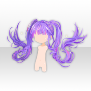 (Hairstyle) Wizardly School Floating 2-tail Hair ver.A purple