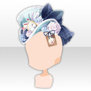 (Head Accessories) Alice Dressy Rose Hat ver.A blue