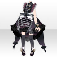 (Tops) Angelic Magical Bow Dress Style ver.A black