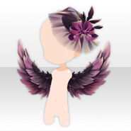 (Head Accessories) Underworld Wing & Cocktail Hat ver.A pink