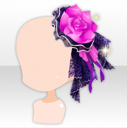 (Head Accessories) Wizardly School Ribboned Flower Hat ver.A pink