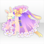 (Outerwear) Fancy Rabbit Frilled Poncho ver.A purple