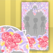 (Show Items) Dolls Tea Party Flower Curtain Decor1 ver.1