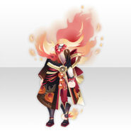 (Tops) Flame & Horror Kimono Style ver.A red