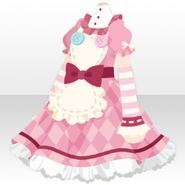 (Tops) Momo Maid One-Piece ver.A pink