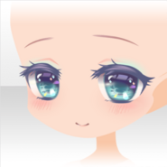 (Face) Little Mermaid Smiling Face ver.A blue