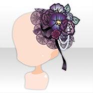 (Head Accessories) Papercut Dark Dress Hat ver.A black