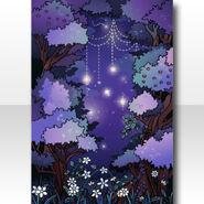 (Wallpaper Profile) Deep Dark Forest Invites the Girl Wallpaper ver.A purple