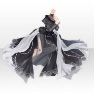 (Tops) Floracion Princess Chiffon Dress ver.A black