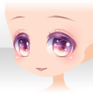 (Face) Cute Star Staring Gentle Smile Face ver.A pink