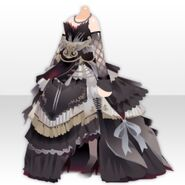 (Tops) Ancient Elegant Dress Style ver.A black