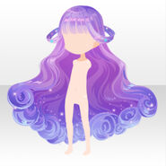 (Hairstyle) CocoPPa Dolls Colorful Rocket Hair ver.A purple