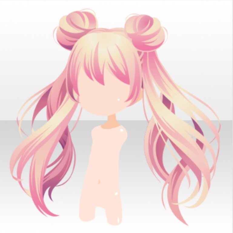 Image Hairstyle Magical Twin Horn Buns Hair Ver A Pink