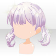 (Hairstyle) Pure Crystal Bunches Hair ver.A purple