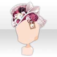 (Head Accessories) Alice Dressy Rose Hat ver.A red