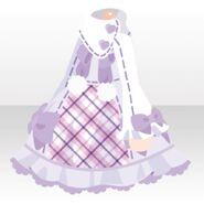 (Tops) Cute Check Dress ver.A purple