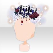 (Face Accessories) Fallen Feather Dark Angel Headdress ver.A black