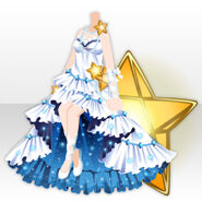 (Tops) Star Memory Girl Style ver.A white