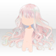 (Hairstyle) Floracion Princess Wavy Hair ver.A pink