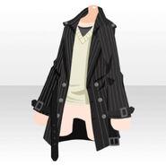 (Tops) Cool Sweater and Medium Coat ver.A black