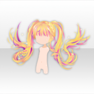 (Hairstyle) U.S. Cheerleader Floating 2-tail Hair ver.A yellow
