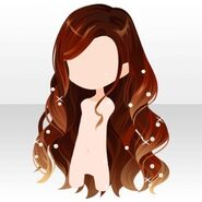 (Hairstyle) Sparkle Pearl on Long Hair ver.A orange