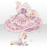 (Tops) Dancing Girl Frilled Dress Style ver.A pink
