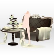 (Avatar Decor) Elegant Perfume Sofa and Table ver.A green