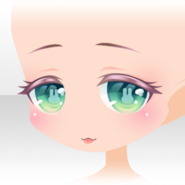 (Face) Fancy Rabbit Eye Tongue Out Face ver.A green