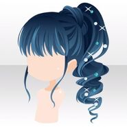 (Hairstyle) Sparkle Curl Ponytail ver.A blue