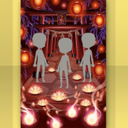 (Show Items) Ghost Standing at Red Torii Gate Stage ver.1