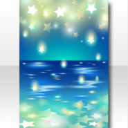 (Wallpaper Profile) Ocean Thick with Stars Wallpaper ver.A blue