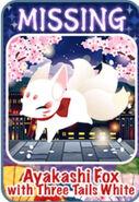 Fox Wedding Ayakashi Fox with Three Tails White