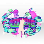 (Avatar Decor) Glittery Zombie Logo Art ver.A purple