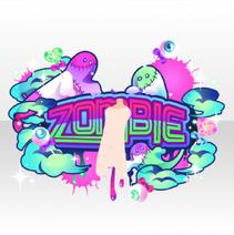 (Avatar Decor) Glittery Zombie Logo Art ver.A purple