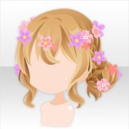 (Hairstyle) Shabon Flower Buns Hair ver.A brown