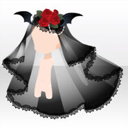 (Head Accessories) Vampire Rose Veil ver.A black