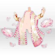 (Outerwear) Ethnic Tale Shawl Surrounded by Water Lillies ver.A pink