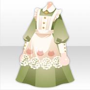 (Tops) Tea Party Cat Maid Apron Dress ver.A green