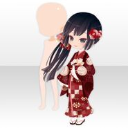 (Face Accessories) With Tsubaki Right ver.A red