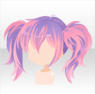(Hairstyle) Night Dress Party Tied Up Twin Tails Hair ver.A pink