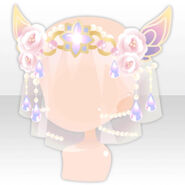 (Head Accessories) Fairy Princess Veil with Flowers & Jewelry ver.A yellow
