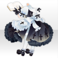 (Tops) Sister's Reading Style ver.A black
