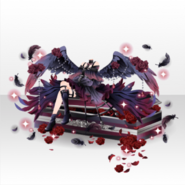 (Tops) Fallen Feather Sexy Dark Angel Style ver.A black