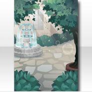 (Wallpaper Profile) Royal Girl Fountain in Garden Wallpaper ver.A green