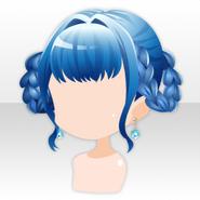 (Hairstyle) Deep-Sea Girly Plait Hair ver.A blue